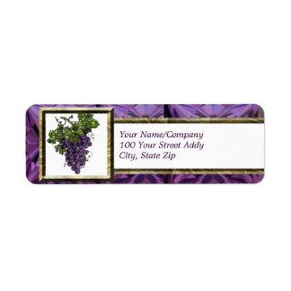 Purple Grape Labels