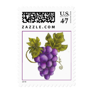 Purple Grape Stamp