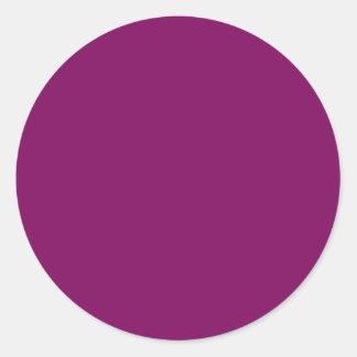Purple grape classic round sticker