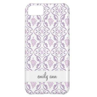 Purple Grape Vines Pattern iPhone 5C Cases