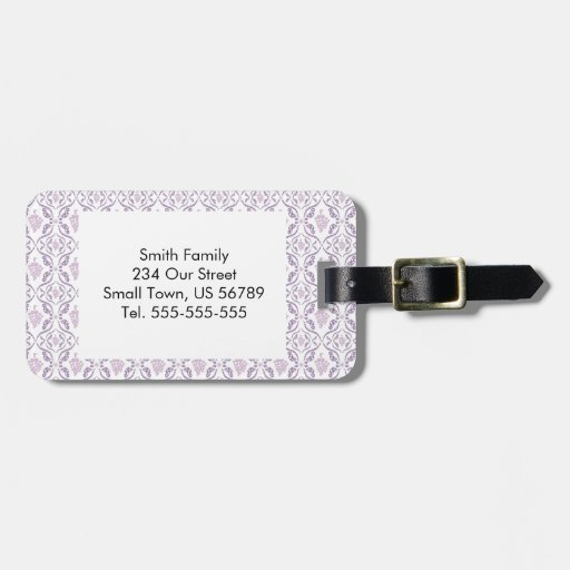 Purple Grape Vines Pattern Tags For Bags