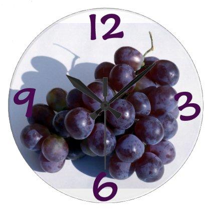 Purple Grape Wall Clock