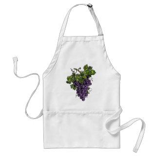Purple Grapes Adult Apron