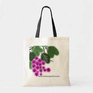 purple grapes and green leaves tote bag