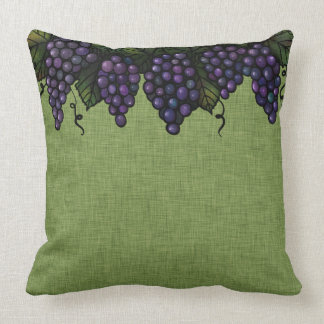 """Purple Grapes and Vines, Throw Pillow 20"""" x 20"""""""