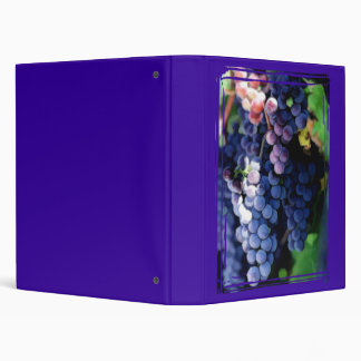 Purple Grapes Cluster 3 Ring Binder