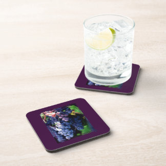 Purple Grapes Cluster Beverage Coaster