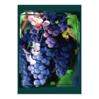 """Purple Grapes Cluster 5"""" X 7"""" Invitation Card"""