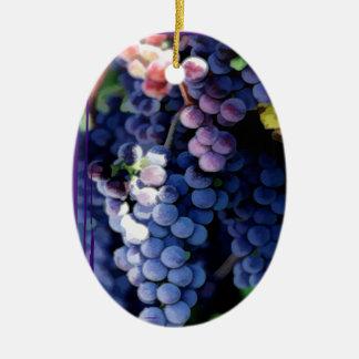 Purple Grapes Cluster Ornament