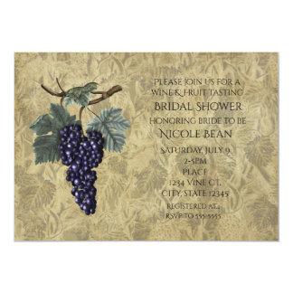 Purple Grapes Fruit Wine Tasting Party Invitation