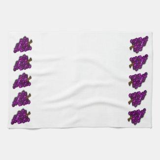 Purple Grapes Hand Towels