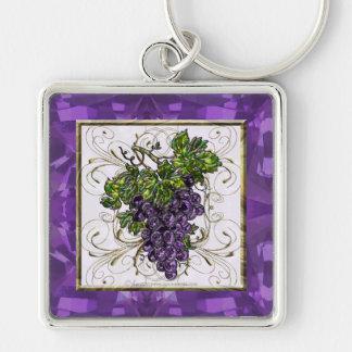 Purple Grapes Keychain