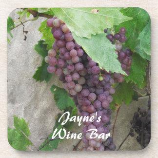 Purple Grapes on the Vine Coaster