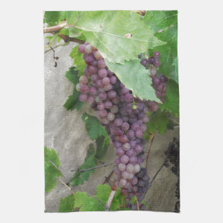 Purple Grapes on the Vine Kitchen Towel