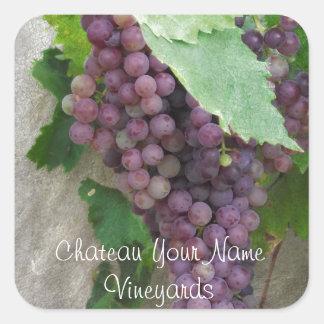 Purple Grapes on the Vine Square Sticker