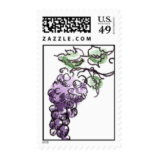 Purple Grapes Stamps