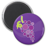 Purple Grapes Refrigerator Magnets