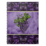 Purple Grapes Spiral Notebooks