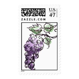 Purple Grapes Stamp