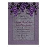 Purple Grapes Vintage Wedding Rehearsal Dinner 5x7 Paper Invitation Card