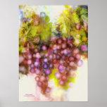 purple grapes, watercolor painting print