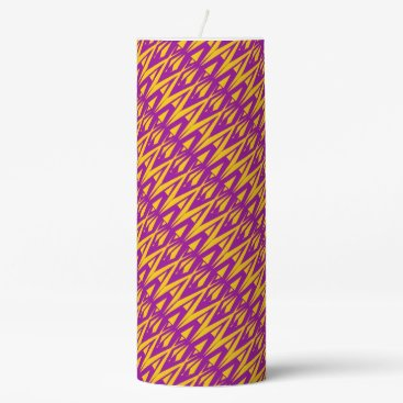 Beach Themed Purple Graphic Candle