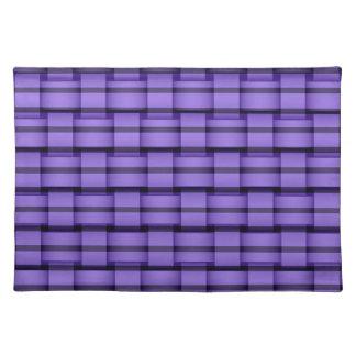 Purple graphic design placemat