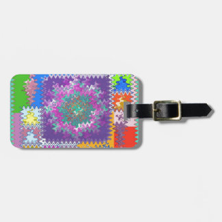 Purple Graphics - keep U warm and excited in life Luggage Tag