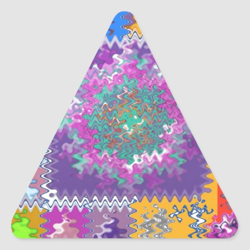 Purple Graphics - keep U warm and excited in life Triangle Sticker