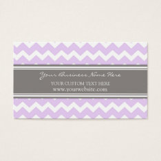 Purple Gray Chevron Retro Business Cards at Zazzle