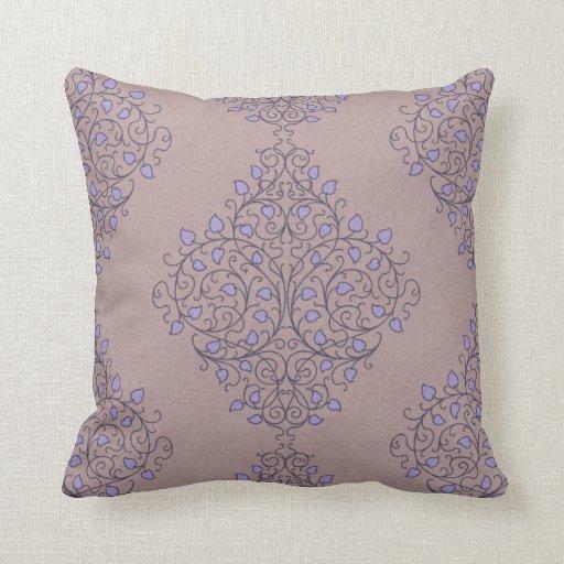 Purple Ikat Throw Pillows