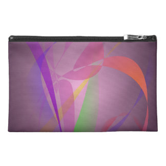 Purple Gray Gentle Abstract Design Travel Accessories Bags