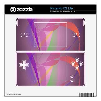 Purple Gray Gentle Abstract Design Nintendo DS Lite Skin