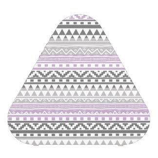 Purple Gray Geometric Aztec Tribal Print Pattern Speaker