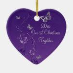 Purple, Gray Our 1st Christmas Keepsake Ornament