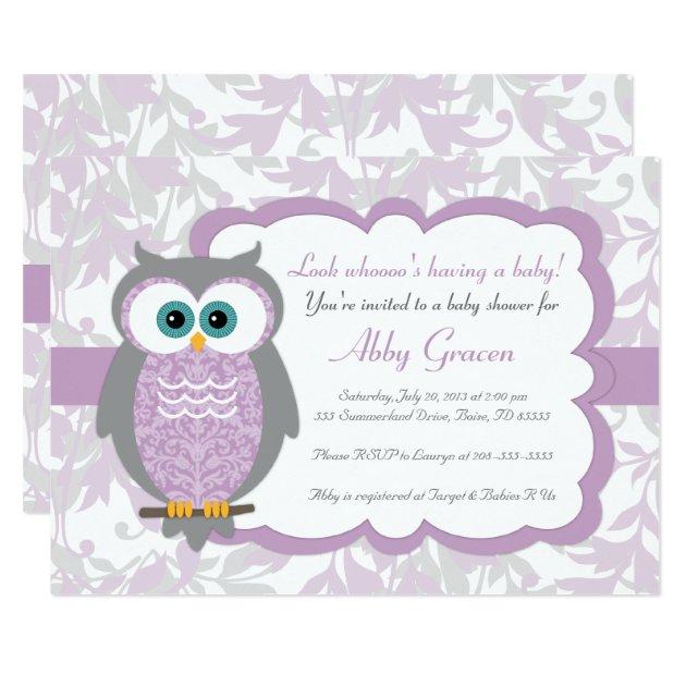 Owl Invitations & Announcements   Zazzle