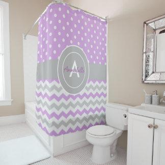 purple and gray shower curtain. Purple Gray Polka Dot Chevron Shower Curtain Light Curtains  Zazzle
