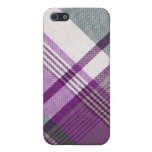 Purple Gray Tartan Plaid Cover For iPhone 5