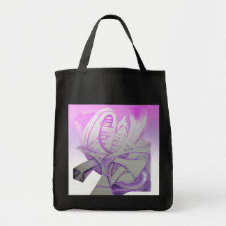 Purple & Gray Tote Bag