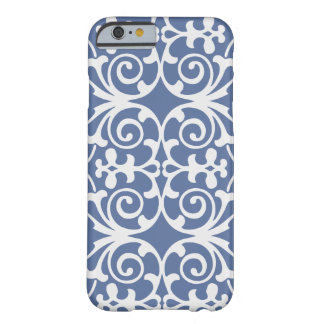 Purple/Gray with white damask patter iPhone 6 case