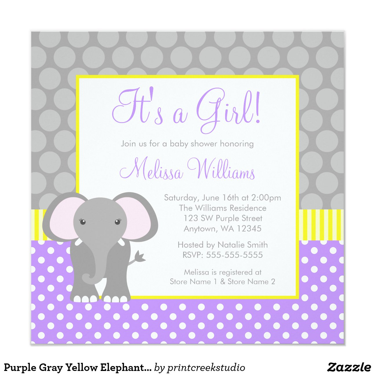 Yellow Elephant Baby Shower Invitations was Nice Sample To Make Fresh Invitations Layout