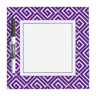 Purple Greek Spirals Dry Erase Dry Erase Whiteboard