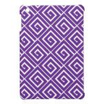 Purple Greek Spirals iPad Mini Case