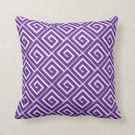 Purple Greek Spirals Pillow