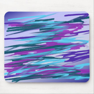 Purple & Green Abstract Art Mouse Pad
