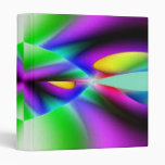 Purple Green Abstract Binder