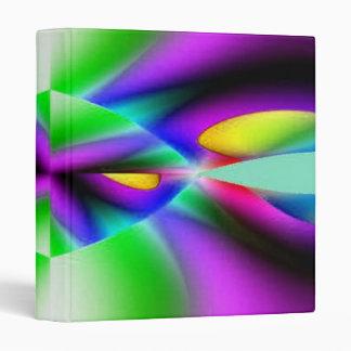 Purple Green Abstract Binder