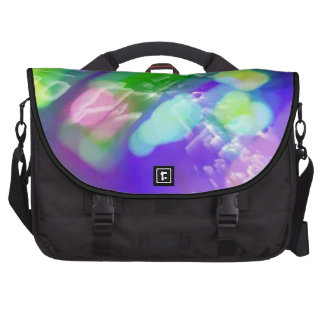Purple Green Abstract Commuter Laptop Bag