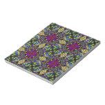 Purple Green and Blue Mandala Fractal Pattern Memo Pad