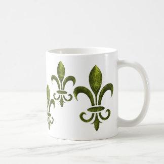 PURPLE GREEN AND GOLD MARDI GRAS STAR COFFEE MUG